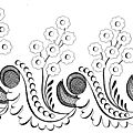 1825 Regency Needlework Pattern 10 Oct 1825