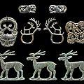A group of nine bronze animal- form plaques, 5th to <b>3rd</b> <b>century</b> <b>BC</b>