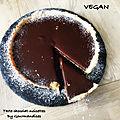 Tarte chocolat-noisette ( vegan) 253 cal/ la part....