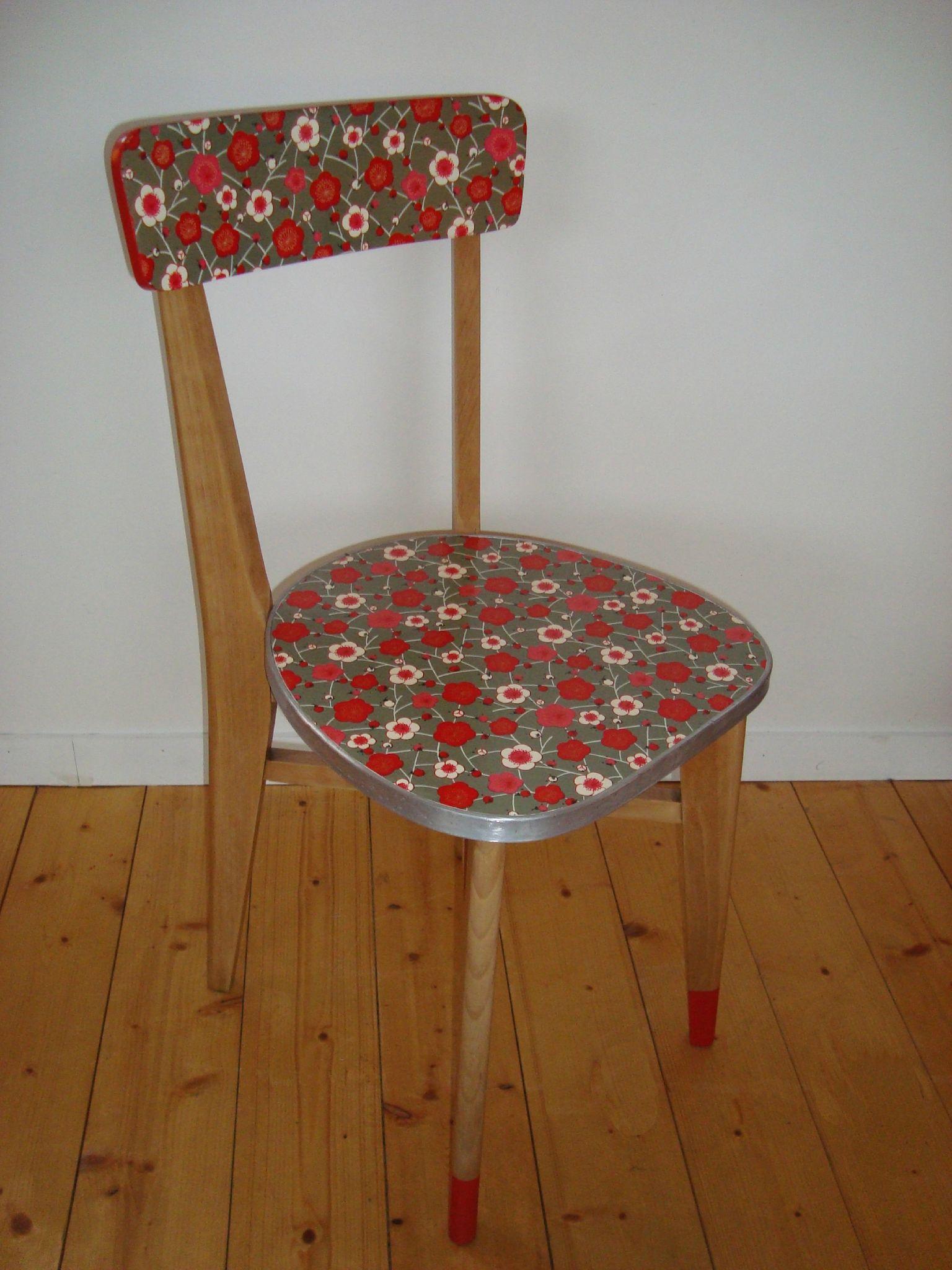 Chaise 50's papier washi