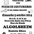 Puces de couturieres et de loisirs creatifs 5 octobre 2014