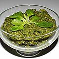 Pesto de mâche aux graines de tournesol