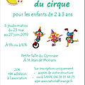 Ateliers de découverte du <b>cirque</b>