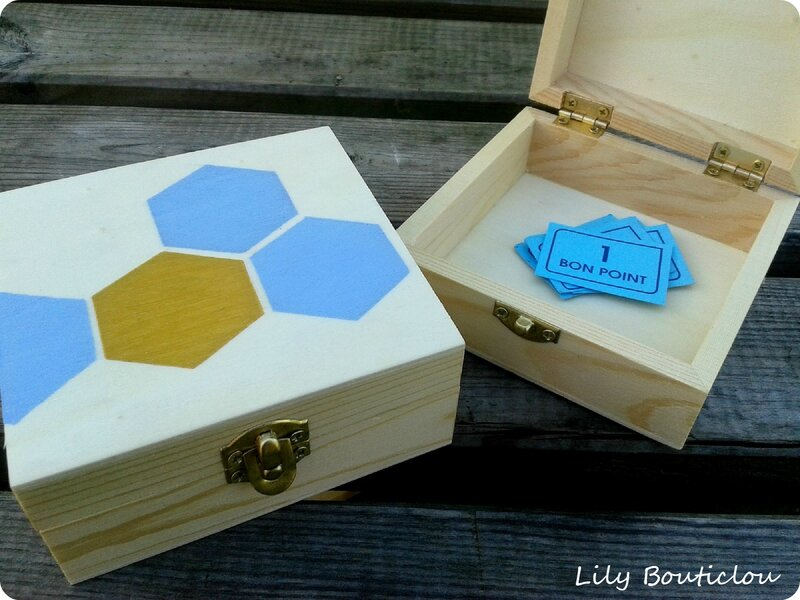 boite bons points hexagone lilybouticlou