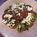 Carpaccio de tomate à la ricotta végétale