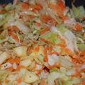 Salade de chou typiquement hivernale