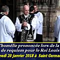 Le texte de l'homélie prononcé lors de la messe de requiem pour louis xvi