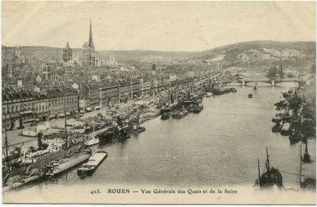 76 - ROUEN - Vue générale des quais et de la Seine