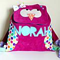 Sac à dos hibou pour la maternelle Norah