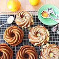 Glazed orange bundt cake