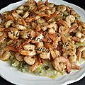 Pôelée de Crevettes curry tandory