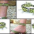 REF Pi 0004 bracelet noir jaune fluo