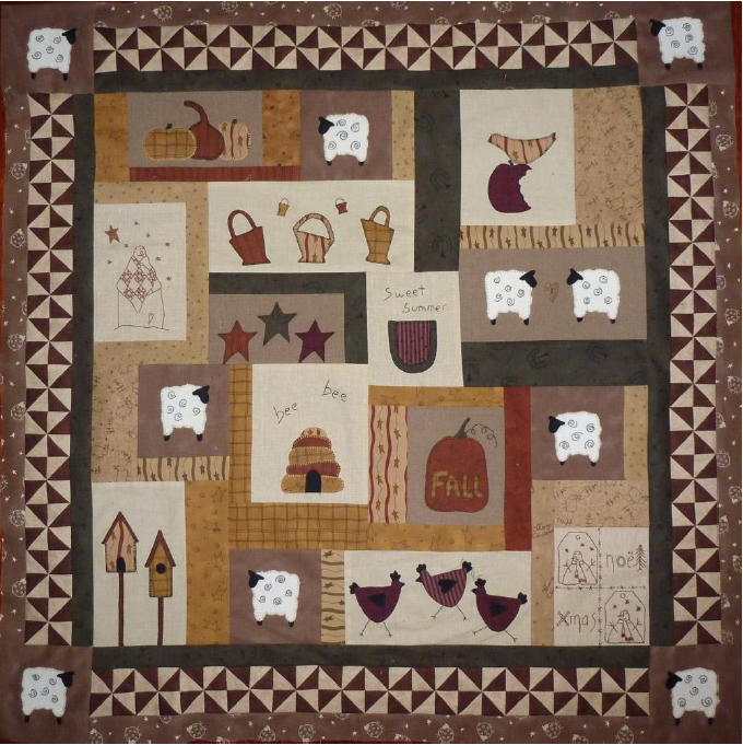 quilt moutons