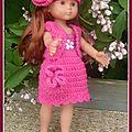Clara tenue rose
