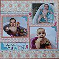 Album de ma nièce : pages thématiques repas et bain