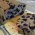 Bread cake à la banane et aux myrtilles
