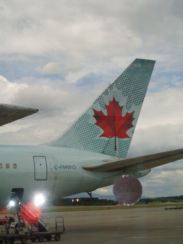 Notre avion Genève - Montréal
