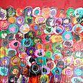 Crayonné huile, acrylique & pastel / toile 40X40
