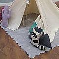 Toute la douceur d'un <b>tapis</b> en coton uni pour la chambre des enfants