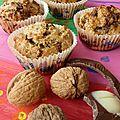Muffins noix/ chocolat