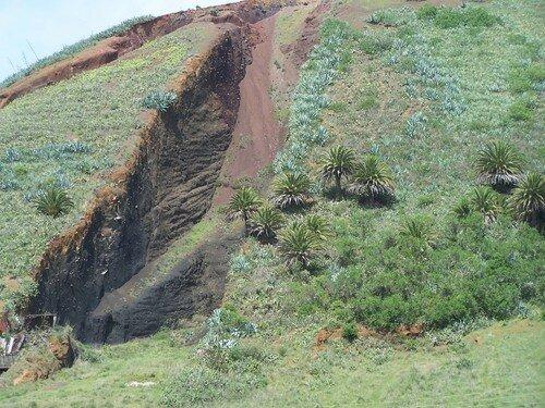 El Palmar-cheminée volcanique zoomée