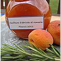Confiture abricots et romarin