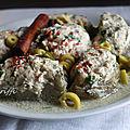 Artichauts farcis au poulet et olives ( dolma karnoun b djej )
