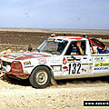 les pick up 504 PEUGEOT en rallyes
