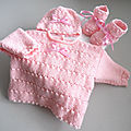 <b>tricot</b> bb, ensemble rose calinou, bb fille, <b>tricote</b> main