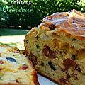 Cake olive noire et chorizo