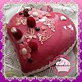 Entremet choco-framboise coeur bombé avec glaçage miroir rose