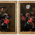 Nicolas baudesson (vers 1611-1680), fleurs dans un vase en verre façon de venise, sur un entablement