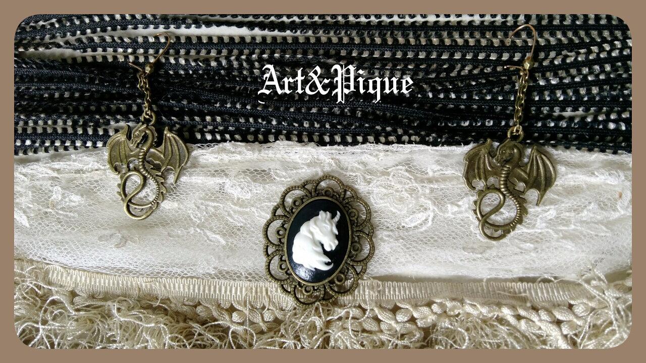 Bijoux Dragon et Licorne.