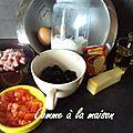 Cake aux olives, jambon et tomate