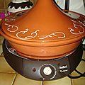 Tajine de cuisse de poulet aux coings caramélisés