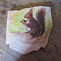 Peinture sur dalle de bavière.