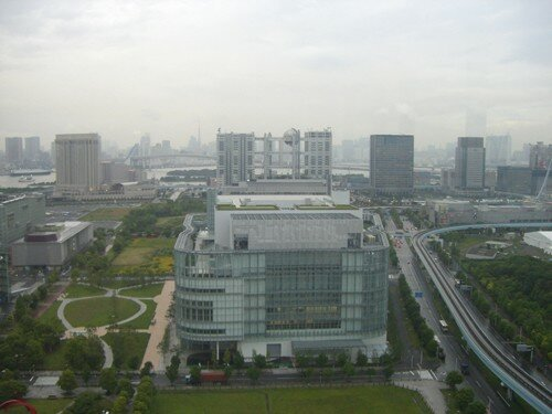 View of Fuji TV Headquarters (Building with Ball)