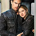 Shailene Woodley and Theo James as Tris and Four Divergent movie