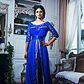 <b>Robe</b> caftan <b>bleu</b> d'un soirée 2014