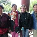 Un groupe de Chinoises a la mine bonhomme, Pekin