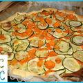 Tarte courgettes - carottes - cumin