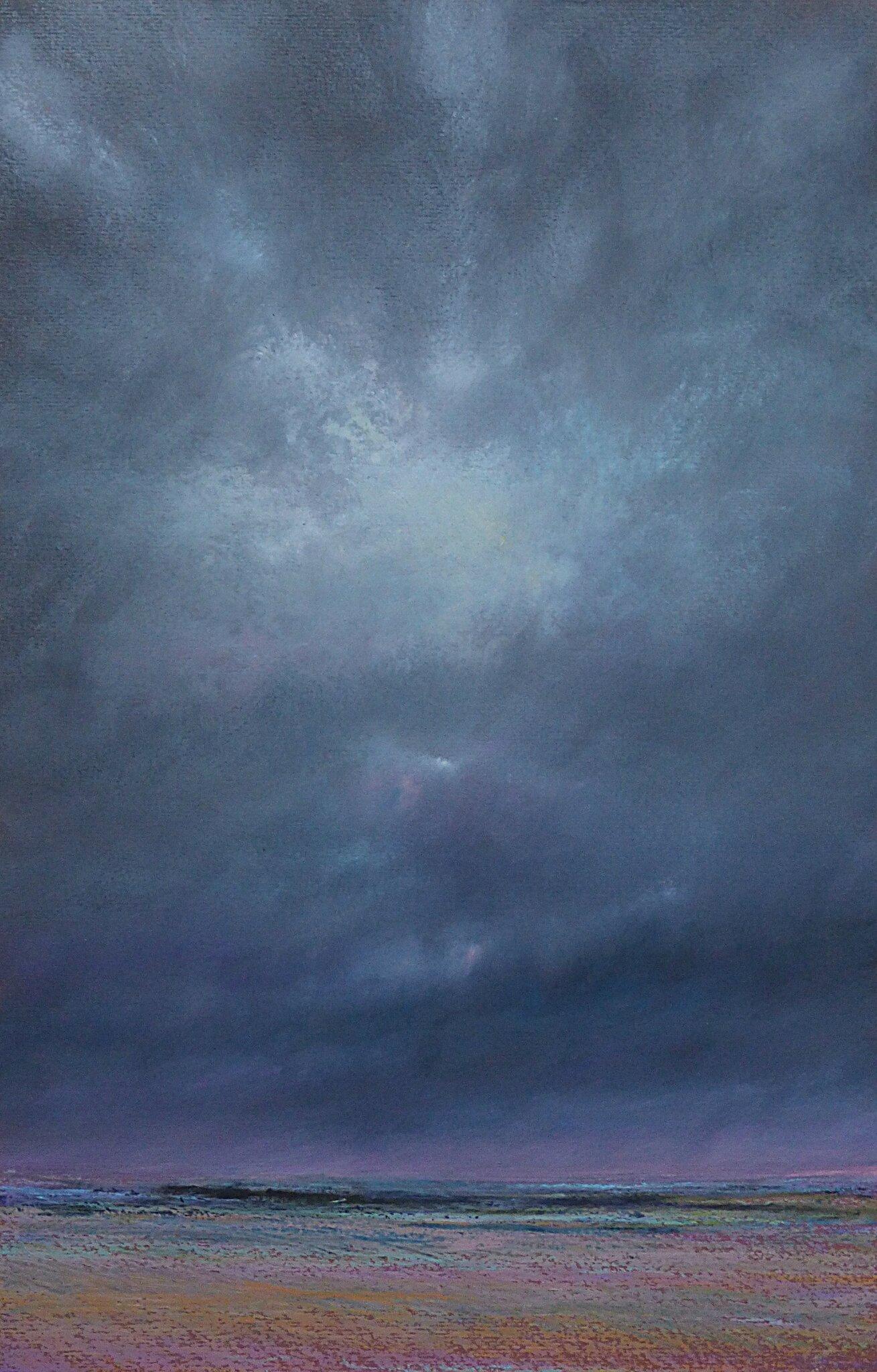 horizon elevation 71, juillet 2016, pastel à l'huile, 32 x 48 cm