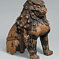 <b>Guardian</b> <b>Lion</b>-Dogs, Japan, Kamakura period (1185–1333), mid-13th century