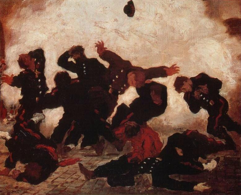 Manet (?) L'explosion
