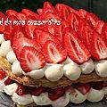 Millefeuille aux fraises et crème vanille au mascarpone