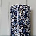 boite à fleurs bleue
