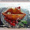 Cake bisous, tomate mozzarella, basilic, parmesan.......