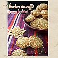Crackers au riz soufflé au cheddar & au sésame (sans gluten)