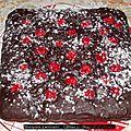 Murzynek z wisniami... gâteau au chocolat et cerises.