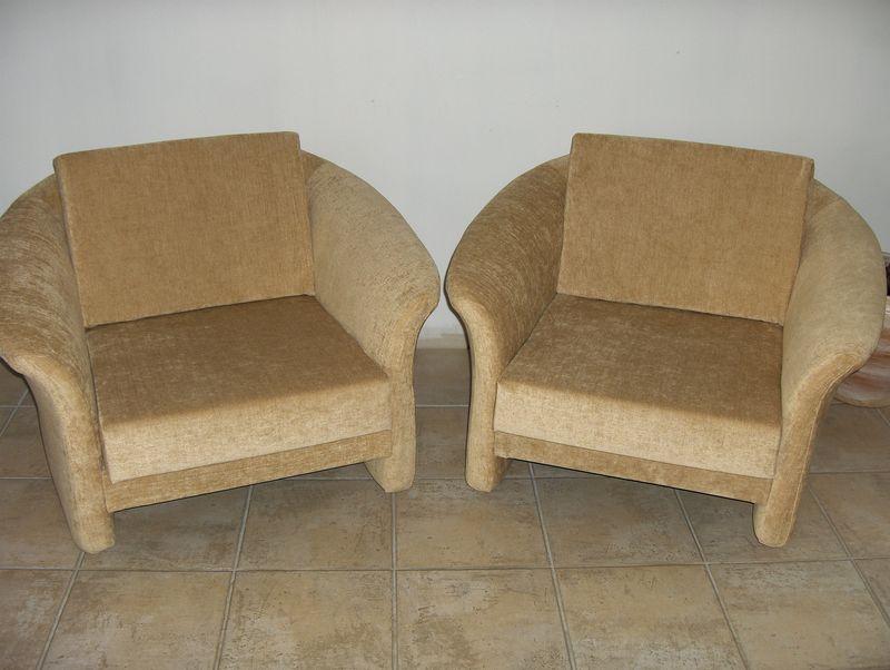 Paire de fauteuils (mousse) tissu Zimmer&Rohde